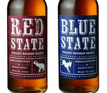 Red State and Blue State Bourbons