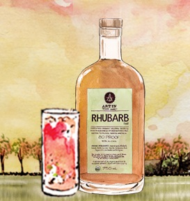 RHUBARB TEA ORGANIC SPIRIT-80 PROOF KNOCKOUT