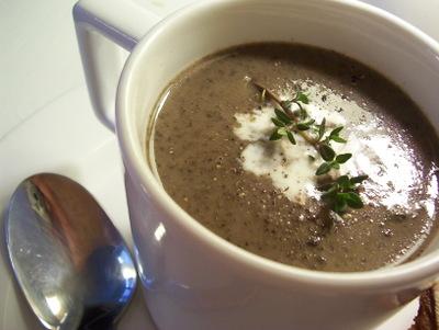 "Tish's  ""Cream"" of Mushroom Soup"