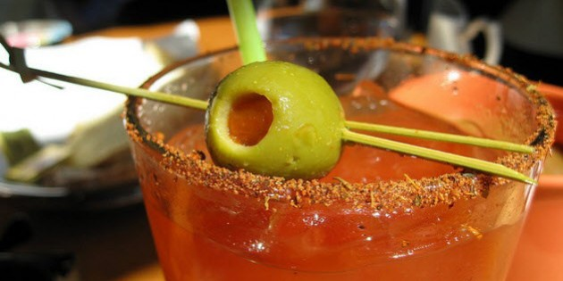 Bloody Mary's at The Old King Cole Bar
