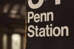 Penn station sign