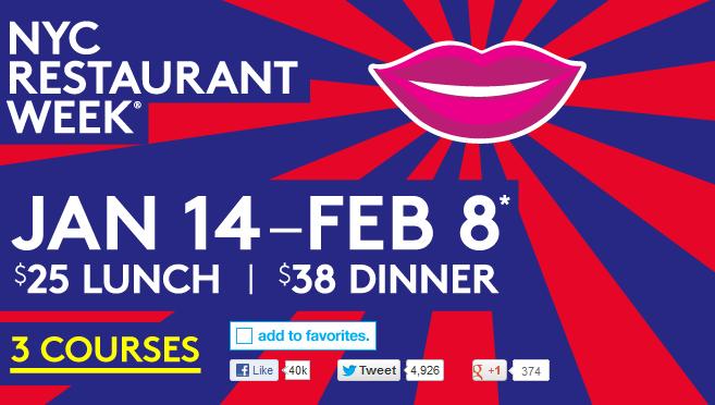 NYC restaurant week 2013