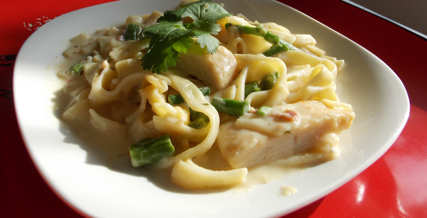 Healthy Chicken Carbonara