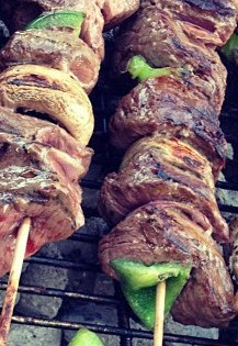 Rosemary Steak Kabobs with Vegetables