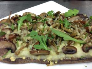 mushroom tartine