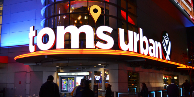 Toms Urban Opens at L.A. Live