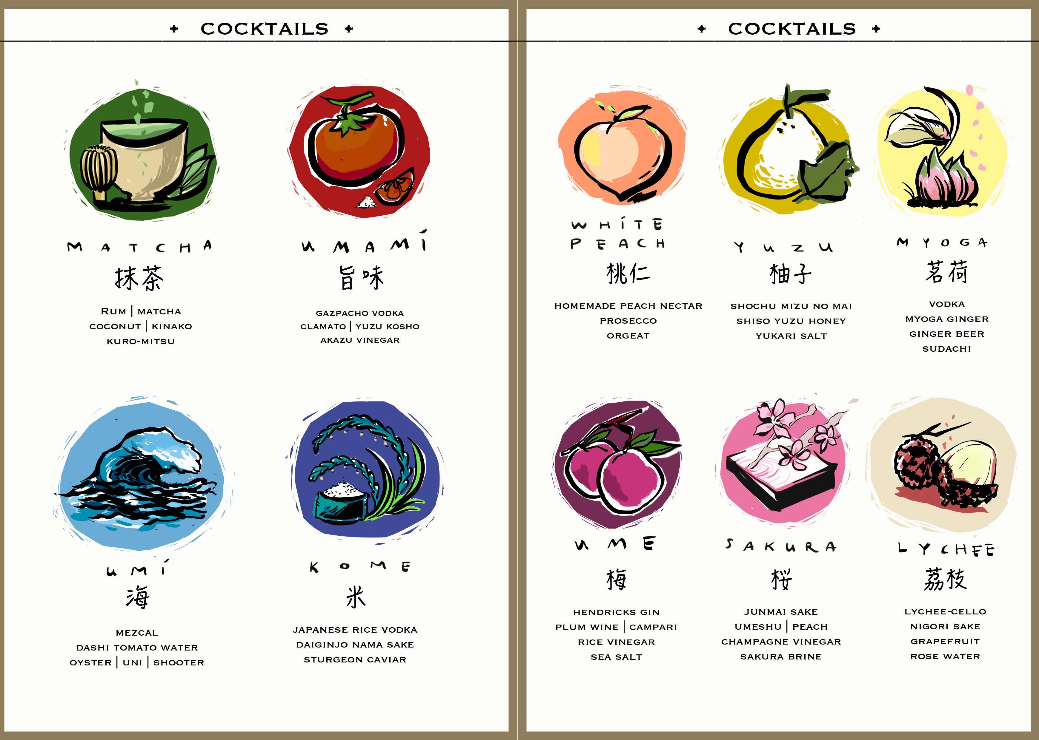 Bar Seki Cocktail Menu